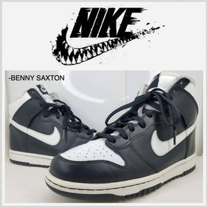 Nike Dunk High Black/White 2004 Vintage 309432-011